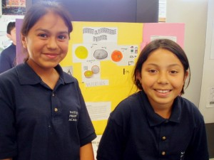 Melyna A., pictured here (L) with classmate Claudia L., as a sixth grader in 2007. Melyna will begin her college career at Creighton this fall to study nursing.